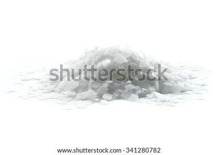 Magnesium chloride  isolated on white - stock photo