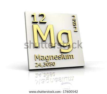 Magnesium form Periodic Table of Elements - stock photo