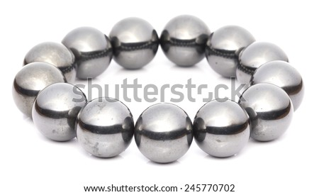 Magnetic Balls in White background
