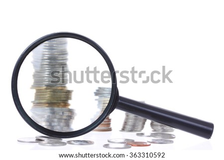 magnification with coin stack