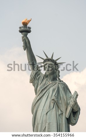 Magnificence of Statue of Liberty - New York City. - stock photo