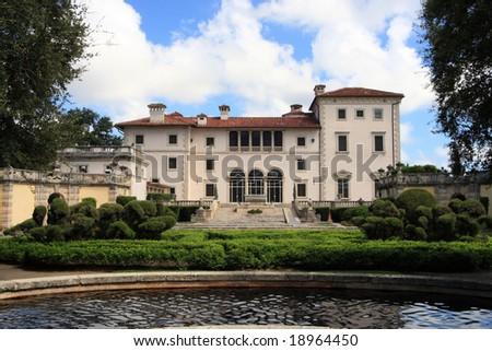 Magnificent Mansion,Vizcaya on Biscayne bay - stock photo