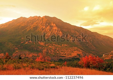Magnificent Mount Timpanogos, Utah, USA. - stock photo