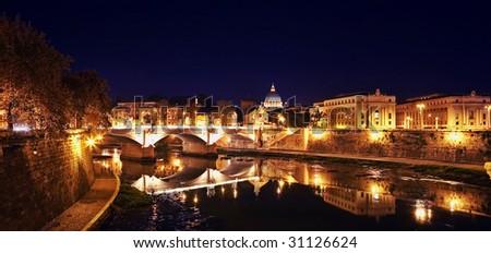 Magnificent night kind on roma - stock photo