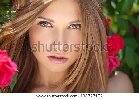 magnificent portrait of a beautiful young woman  - stock photo