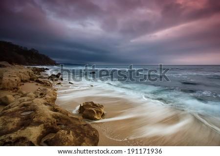 Magnificent sea sunrise  - stock photo