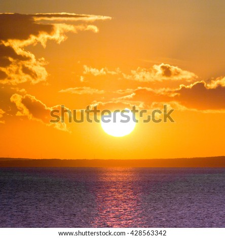 Magnificent View Fiery Disk  - stock photo