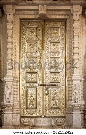 magnificently door in india - stock photo