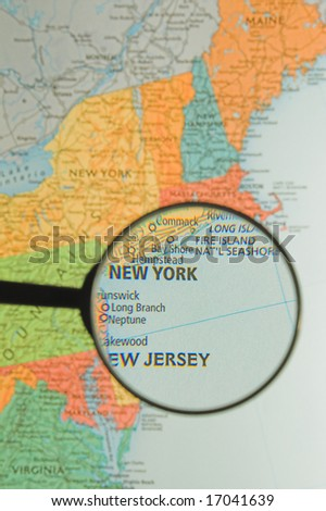 Magnified New York - stock photo