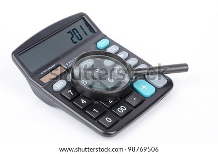 Magnifier and calculator