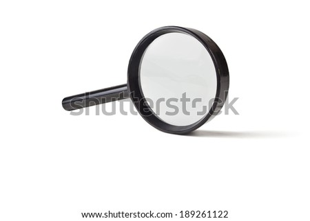 magnifier in a black casing increases the size of small eschey - stock photo