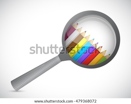 magnify glass and colors inside. illustration design graphic