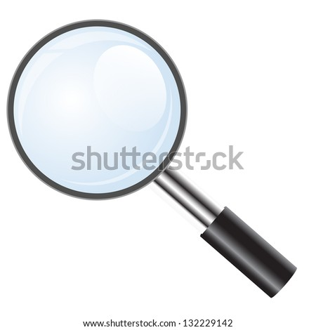 Magnifying glass icon, search icon.  illustration.