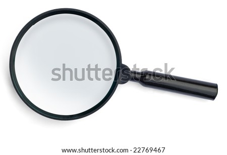magnifying glass isllated on white background(Whit Clippiing path)