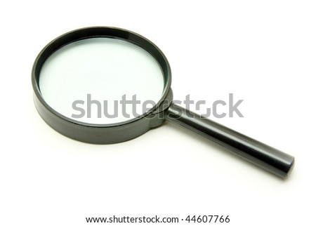 Magnifying glass isolated on the white - stock photo
