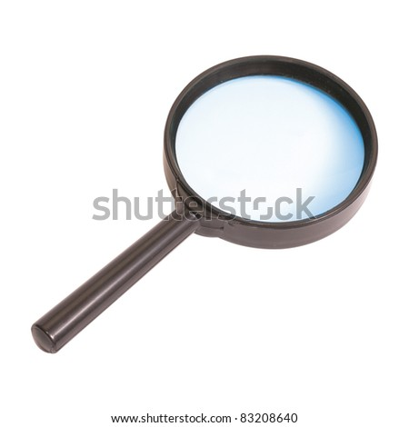 Magnifying glass isolated on the white background - stock photo