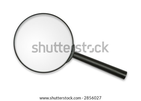 Magnifying glass, isolated on white, clipping path - stock photo