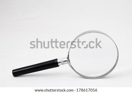 Magnifying Glass Loupe on a White Background - stock photo