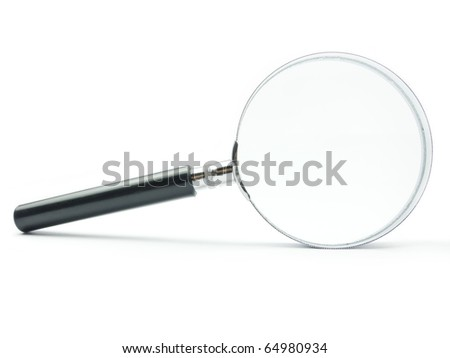 Magnifying Glass on white background with shadow