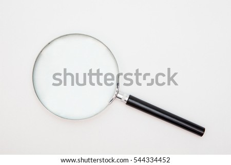magnifying glass on white backgrounds