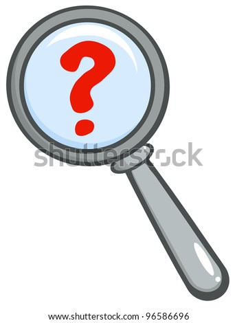 Magnifying Glass With Question Mark - stock photo