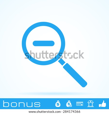 magnifying glass zoom icon - stock photo