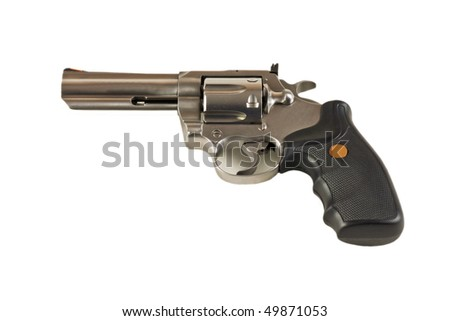 Magnum revolver isolated on white - stock photo