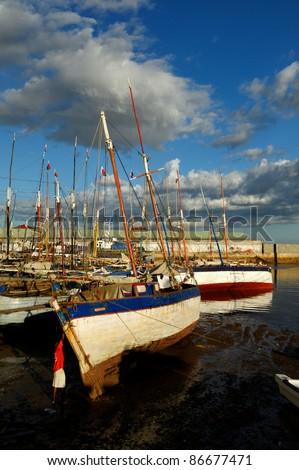 Mahajanga, the dhow harbour - stock photo