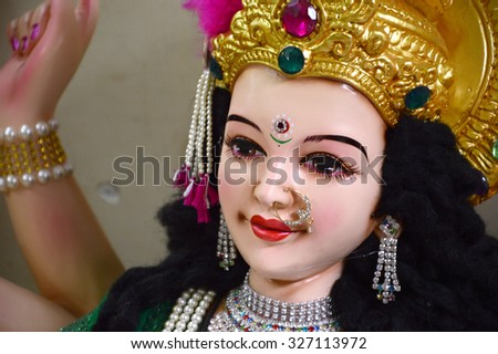 MAHARASHTRA, INDIA October 13, 2015: Durga Puja festival celebration on October 13, 2015 in Nagpur , Maharashtra, India