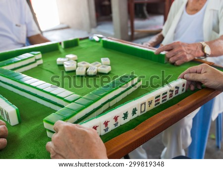 Image result for mahjong table picture
