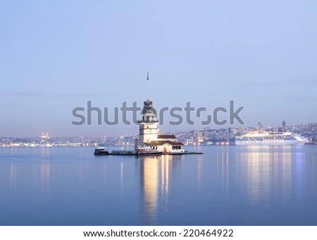 Maiden's tower istanbul Turkey - stock photo