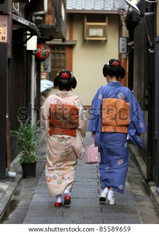 Maikos, Kyoto - stock photo