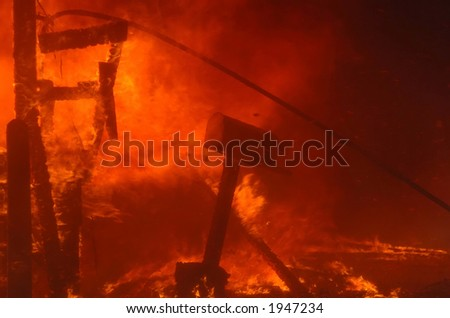 mail box and flames - stock photo