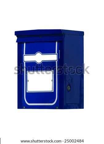 Mail box for letters and the correspondence