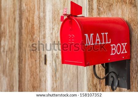 Mail box red - stock photo