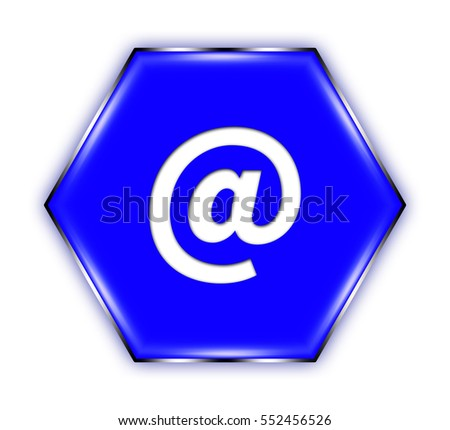 "mail button isolated. ""3d illustration"""