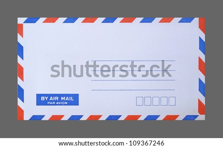 mail envelope on gray background