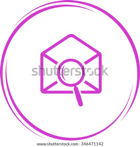 mail find. Internet button. Raster icon. - stock photo