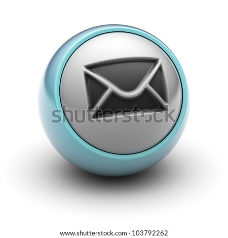mail  Full collection of icons like that is in my portfolio - stock photo