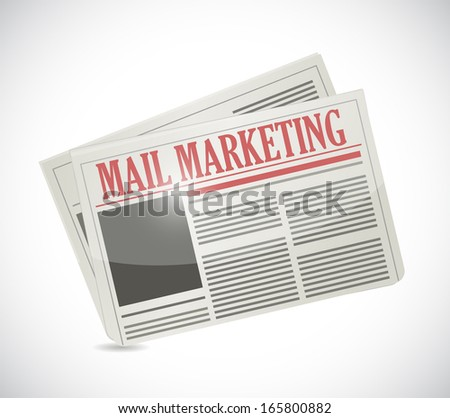 mail marketing newspaper illustration design over a white background
