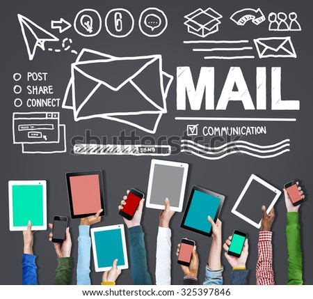 Mail Message Inbox Letter Communication Concept - stock photo