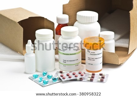 Mail order medications.  - stock photo