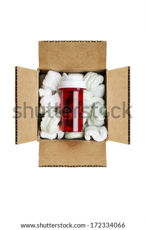 Mail order medicine  - stock photo