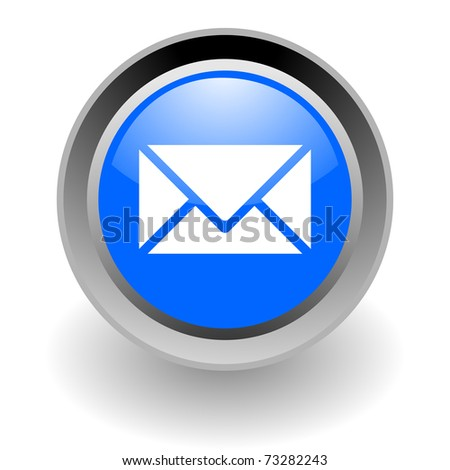 mail steel glosssy icon - stock photo