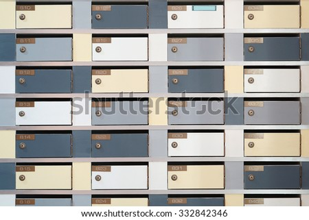 Mailbox  backgroungs                             - stock photo