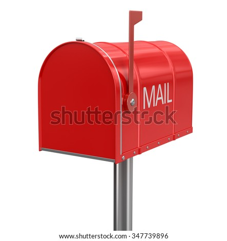 Mailbox (clipping path included) - stock photo