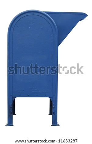 mailbox on white background with clipping path - stock photo