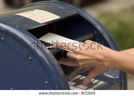 mailing envelope - stock photo