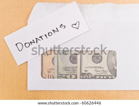 Mailing In Donations Concept - stock photo
