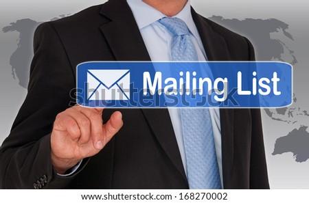Mailing List - stock photo